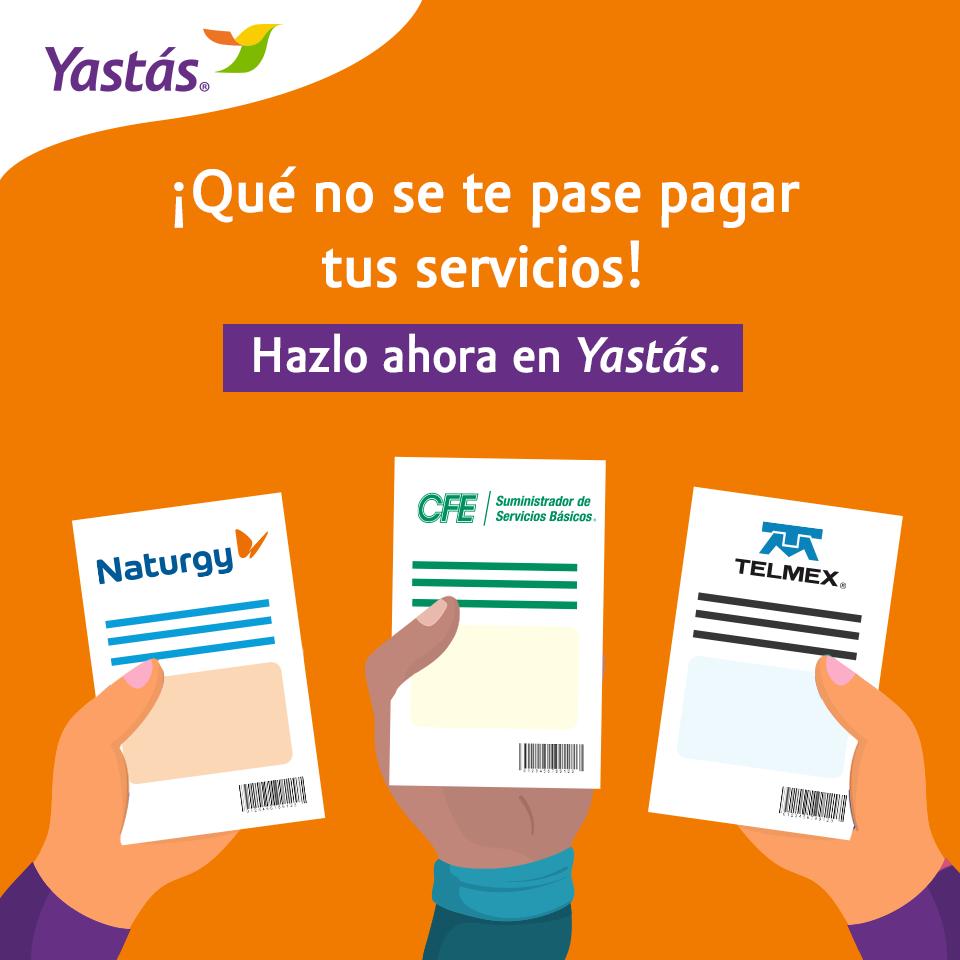Pago de servicios en Yastás